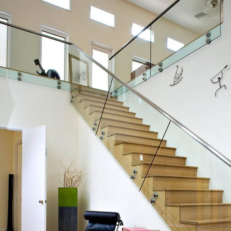 Low Price Cost Glass Stair Railing Cost Stainless Steel Railing | Glass Stair Railing Systems | Iron | Custom | Contemporary | Baluster | Design