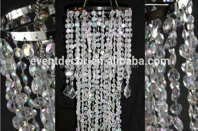 Decotative Crystal Chandelier Whole Acrylic For Cendterpieces 3 Tier Modern Plastic