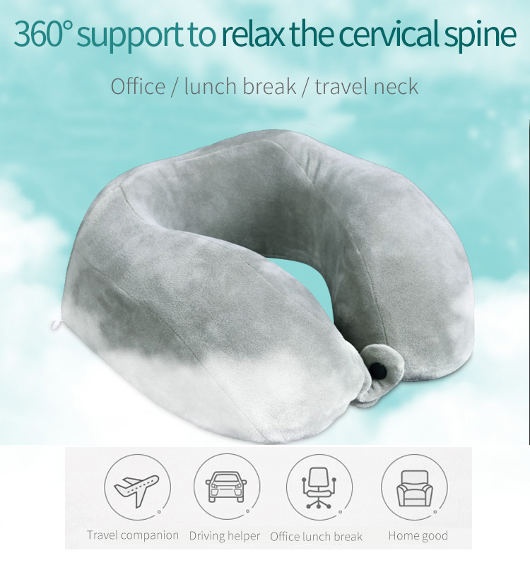 u shaped memory foam cervical support travel neck pillow for car and airplane buy travel neck pillow travel pillow neck pillow product on