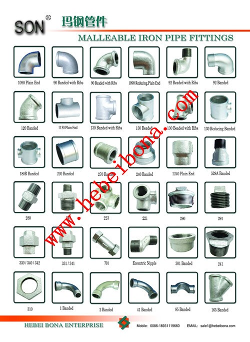 Son Brand Malleable Iron Gi Pipe Fitting Names And Parts ...