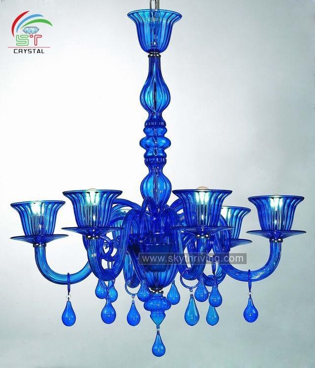 Blue N Glass Chandelier Supplieranufacturers At Alibaba