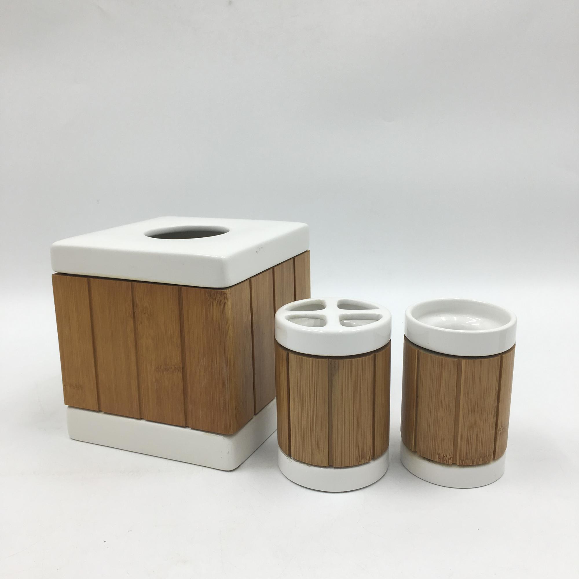 Modern Simple Design White Ceramic Bathroom Sets Wooden Bathroom Accessories Buy Ceramic Bathroom Sets Bathroom Accessories Set Wooden Bathroom Accessories Product On Alibaba Com