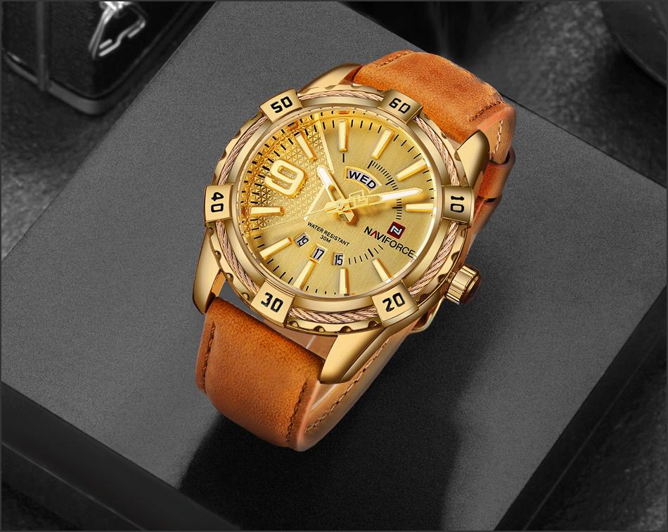 HTB1sdeCggnH8KJjSspcq6z3QFXah NAVIFORCE Top Luxury Brand Men Quartz Watch Army Military Sport Business Watches Week Analog Display Male Clock Waterproof Hour