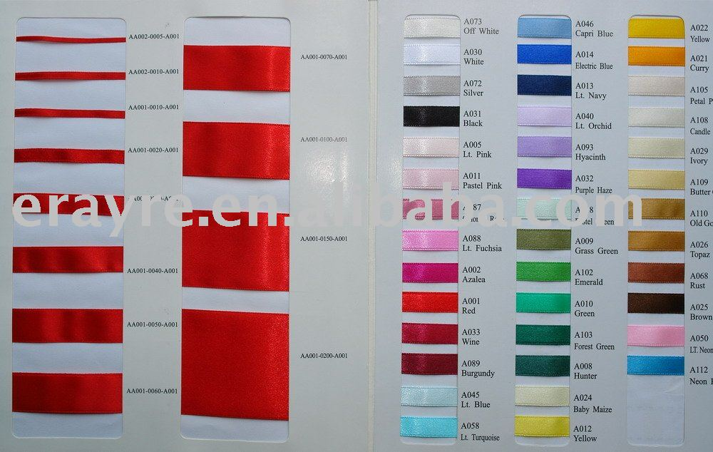 Offray Ribbon Color Chart Single Faced Satin