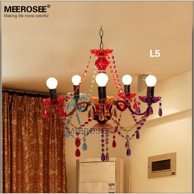 Gypsy Chandelier Multicolored Kids Bedroom Md2650