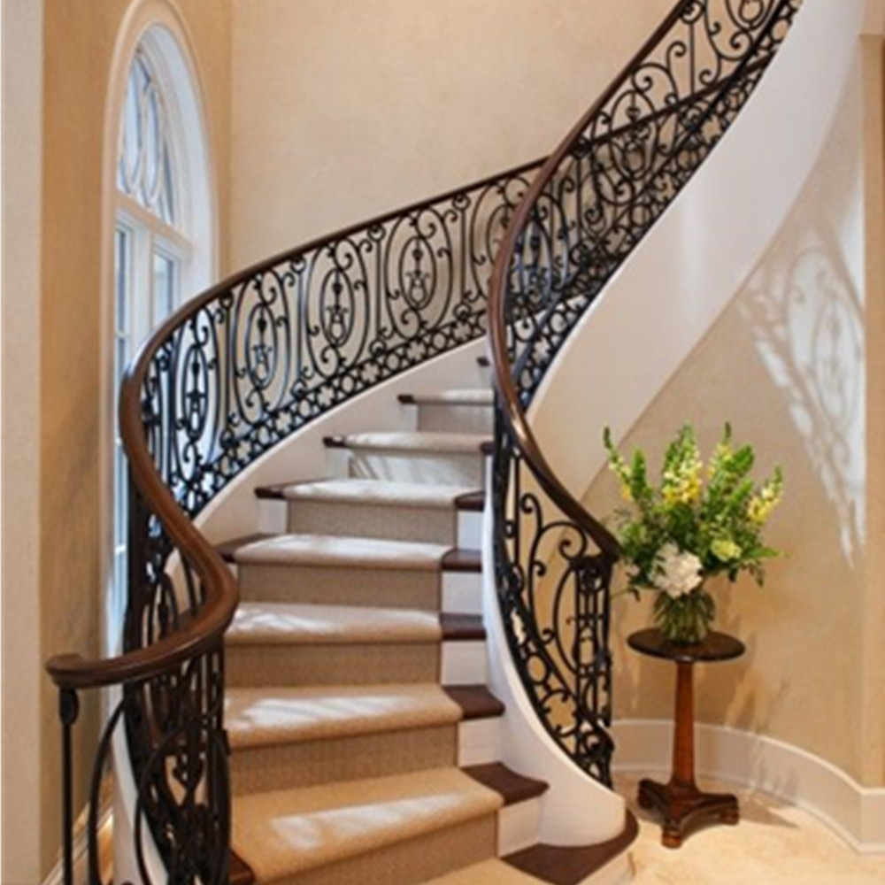Modern Iron Stairs Design Outdoor | Contemporary Wrought Iron Railings | Victorian | Stainless Steel | Glass | Wood | Decorative
