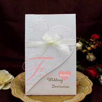 Promotional Exclusive Gold Stamping Personalized Wedding Invitation Card