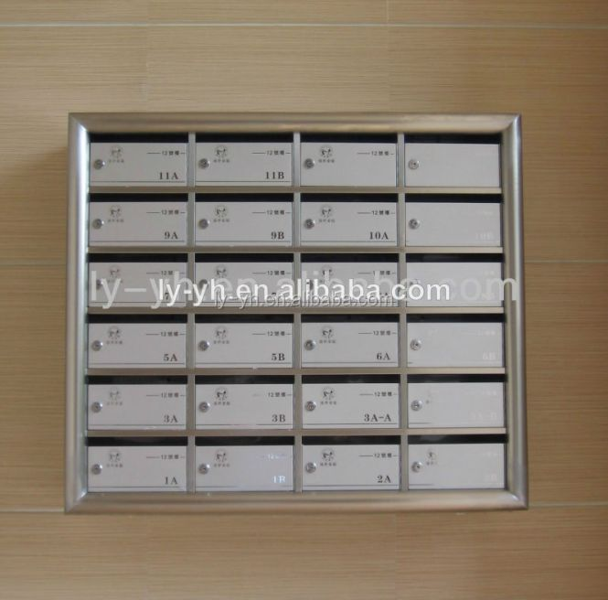 Stainless Steel Mail Box For Apartment Letter