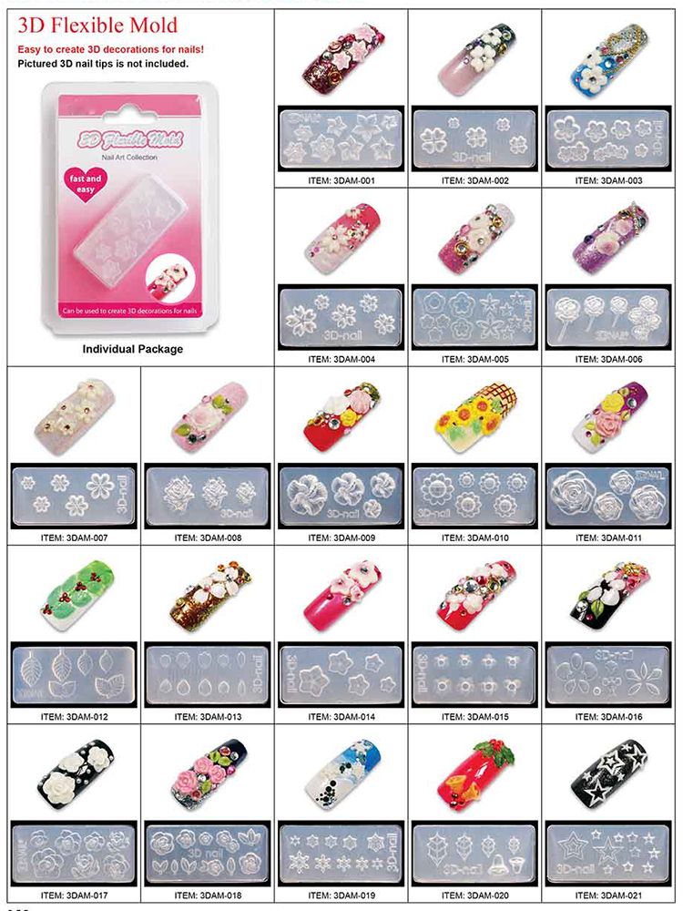 3d Nail Art Molds Supplieranufacturers At Alibaba