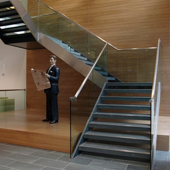 Modern Simple Design Side Mount Glass Staircase Railing With   Staircase Side Railing Designs   Luxury Railing   Living Room   Modern Style   Beautiful   Stairway
