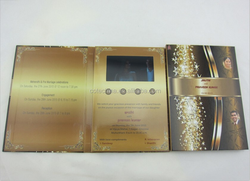 4 3 Customized Lcd Wedding Card Design From Indian Invitation