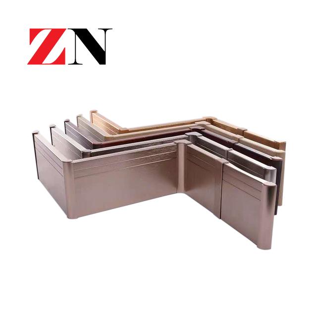 aluminium miroir kickboard plinthe
