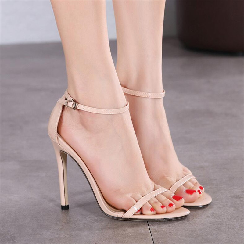 2020 New WOMEN Cover Heel Summer Super high heel Sandals Rough Fish Head open-toed Sandals sexy Large size women shoes .ZL-726-3