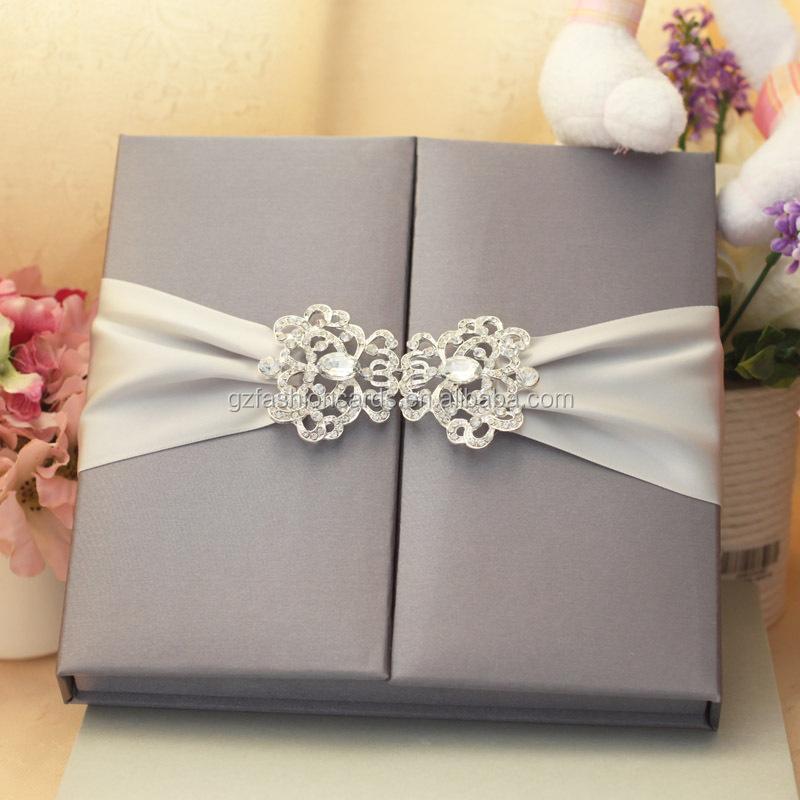 Luxury Silk Wedding Invitation Box Supplieranufacturers At Alibaba