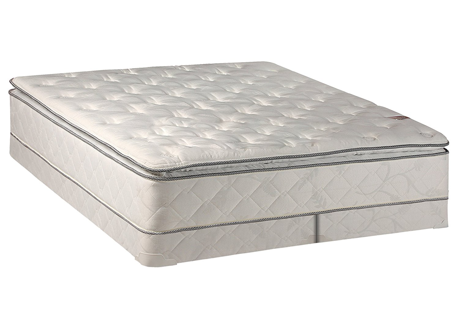 get quotations continental sleep medium plush pillowtop orthopedic type mattress and box spring and 4