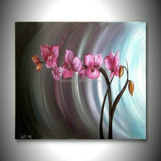 Handmade Group Of Oil Paintings Modern Abstract Flower Pictures Home Decor Hang