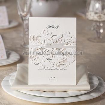 Classic Style Paper Craft Wedding Invitation Card