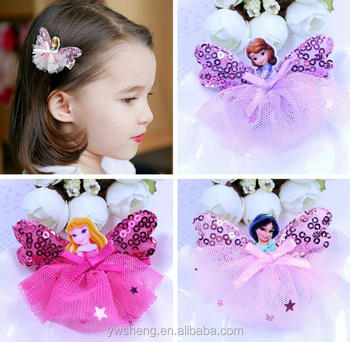 baby girls hair accessories princess frozen butterfly hair clips buy latest girls hair clips fancy hair clips african butterfly hair clips product on