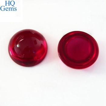 Round Shape Ruby Cabochon Corundum Gemstones In Dubai