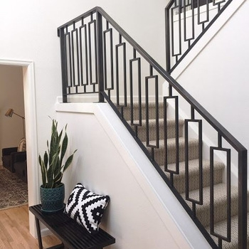 Decorative Indoor Steel Stair Railing Design And Iron Balustrades | Designer Handrails For Stairs | Wood | Wrought Iron Balusters | Railing Ideas | Interior | Stair Parts
