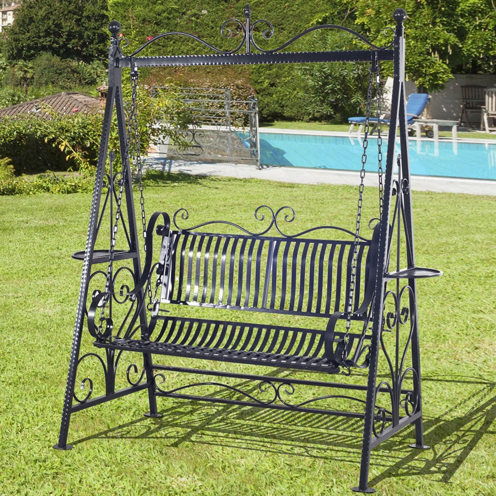 5 foot black wrought iron porch swings with stand buy black wrought iron porch swings 5 foot wrought iron swings wrought iron swing with stand