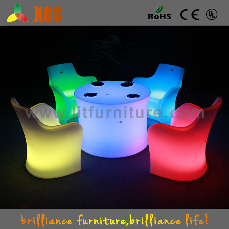 Modern Led Buffet Table And Chair SetsPlastic Light Up