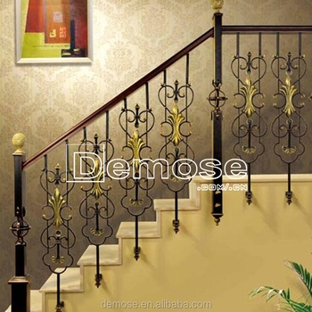 Interior Stair Iron Handrails Antique Ornamental Iron Railing | Iron Stair Railing Cost | Wrought Iron Balusters | Deck | Stair Parts | Banister | Stair Treads