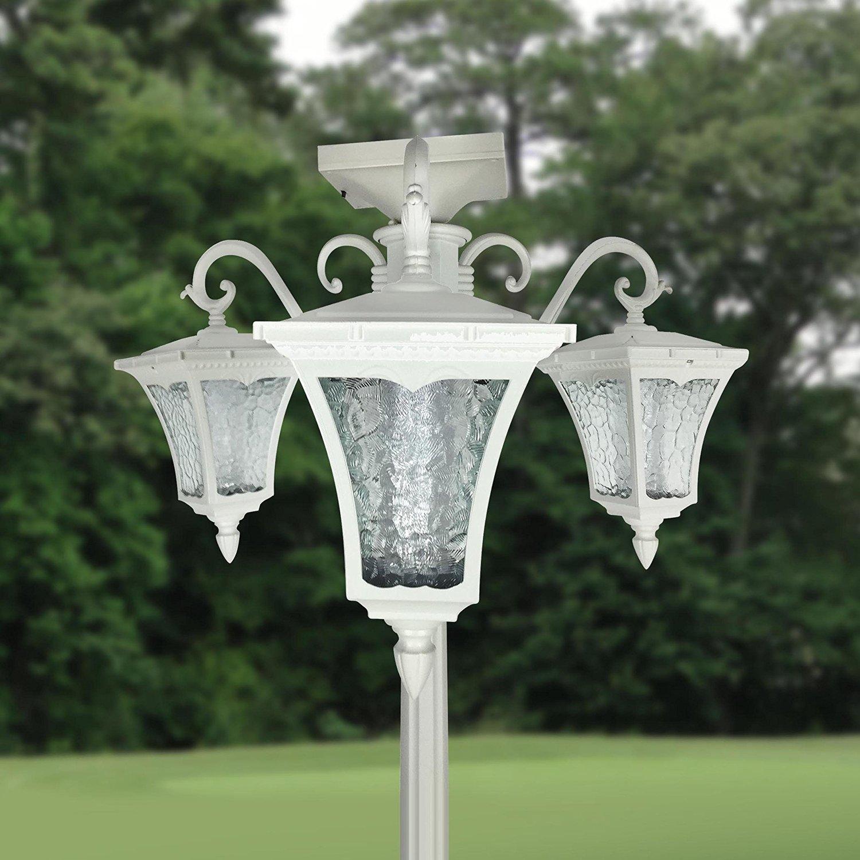 80 inch high three head solar lamp post