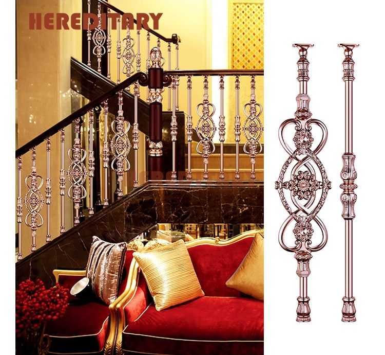 Prefab Modern House Metal Stair Railing Aluminum Balustrade For | Modern Home Stair Railings | Single Moulding | Stainless | House | Wall Mounted | Mountain