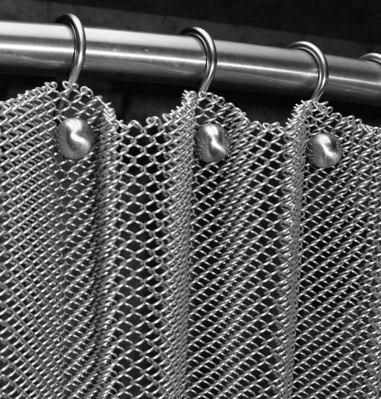 decorative aluminum chain link metal mesh curtain buy chain link metal mesh curtain metal mesh curtain metallic shower curtain product on