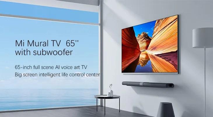 xiaomi television ultra fine mi tv 65 pouces avec caisson de basses 2 go 32 go android tv 4k version internationale buy tv xiaomi 65 xiaomi mi tv