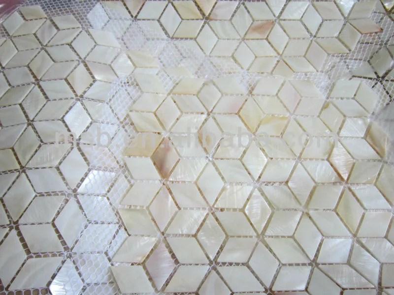 carrelage mosaique en base de losange aspect naturel et blanc monte en maille buy mosaique de coquille mosaique de coquille naturelle tuile de
