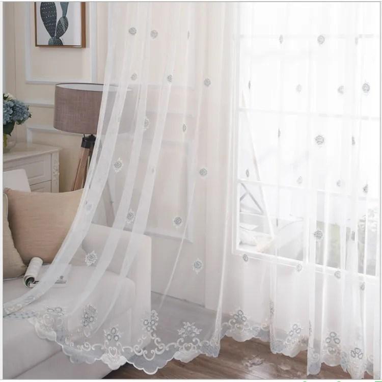 rideau transparent blanc brode en organza de soie style europeen livraison gratuite buy rideau rideau transparent blanc de broderie
