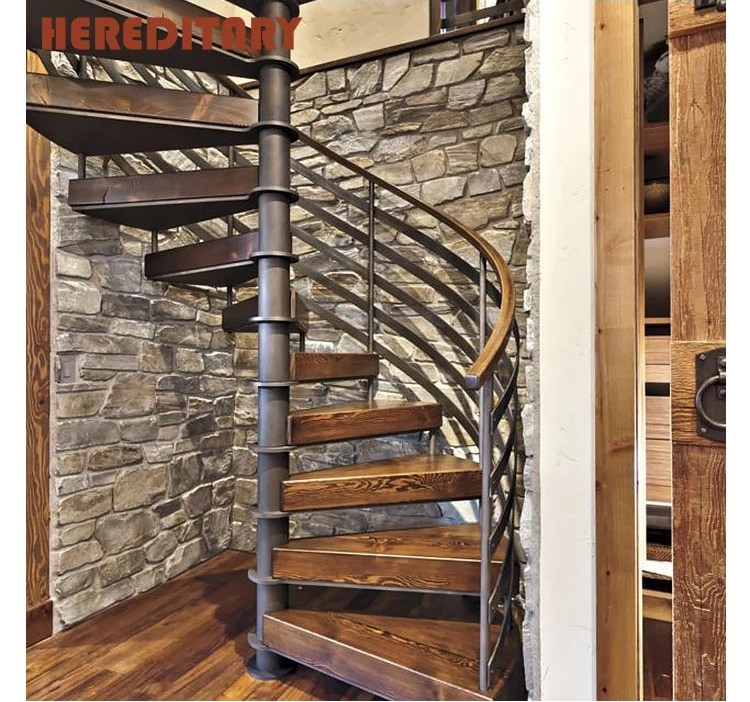 Attic Stairs Thick Wood And Steel Structure Spiral Staircase Buy | Spiral Staircase To Attic | Easy | Adding | Stairway | White | Corner
