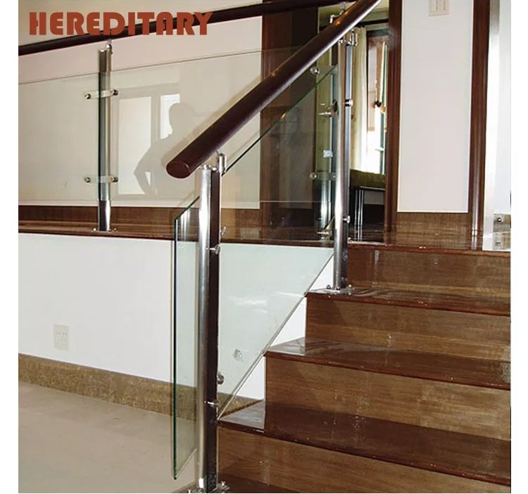 Tempered Glass Stainless Steel Designs Stair Railing Outdoor | Stainless Steel Staircase Railing With Glass | Thin Glass | Stairway | Tempered Glass | Handrail | Banister