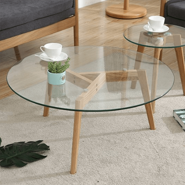 bazhou hot sales nordic round small wood glass coffee table for living room buy glass coffee table for living room round small wood glass coffee table bazhou hot sales nordic coffee table product