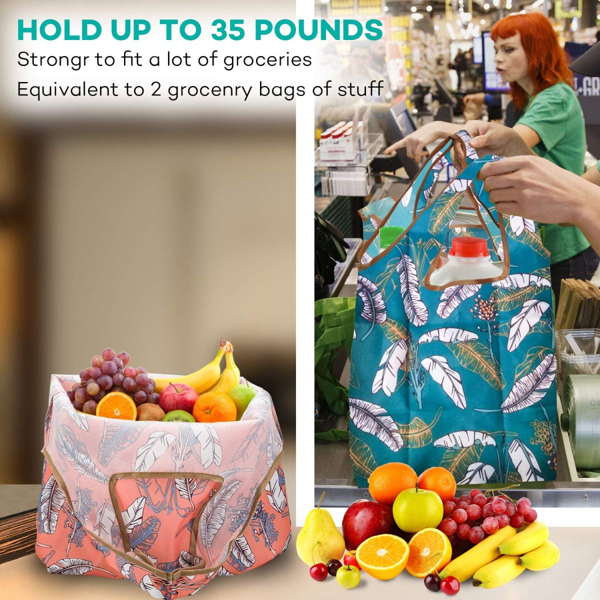 Free sample reusable foldable custom grocery shopping bag with low MOQ