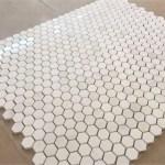 Turkish Marble Hexagon Mosaic Tile Mesh On Mounted Buy Hexagon Marble Mosaic Honeycomb Mosaic Backsplash Mosaic Product On Alibaba Com