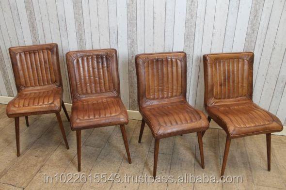 industrielle fer en cuir chaise chaise