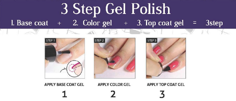 Val Usa Manufactrer 3 Step Color Gel Nail Polish