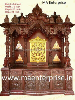 Home Temple Design In Wood. Wooden Home Pooja Mandir Wooden Home ...