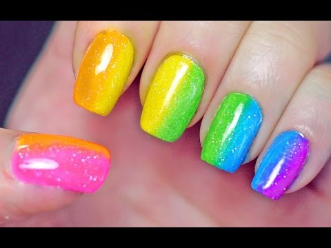 Get Ations Rainbow Nail Art Tutorial Feather In Memory Of Ane Li Diy