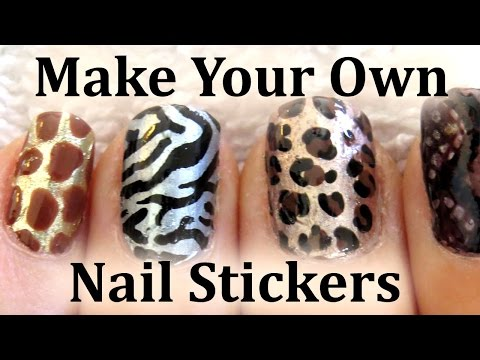 Get Ations Easy Animal Print Nail Art Sticker Tutorial