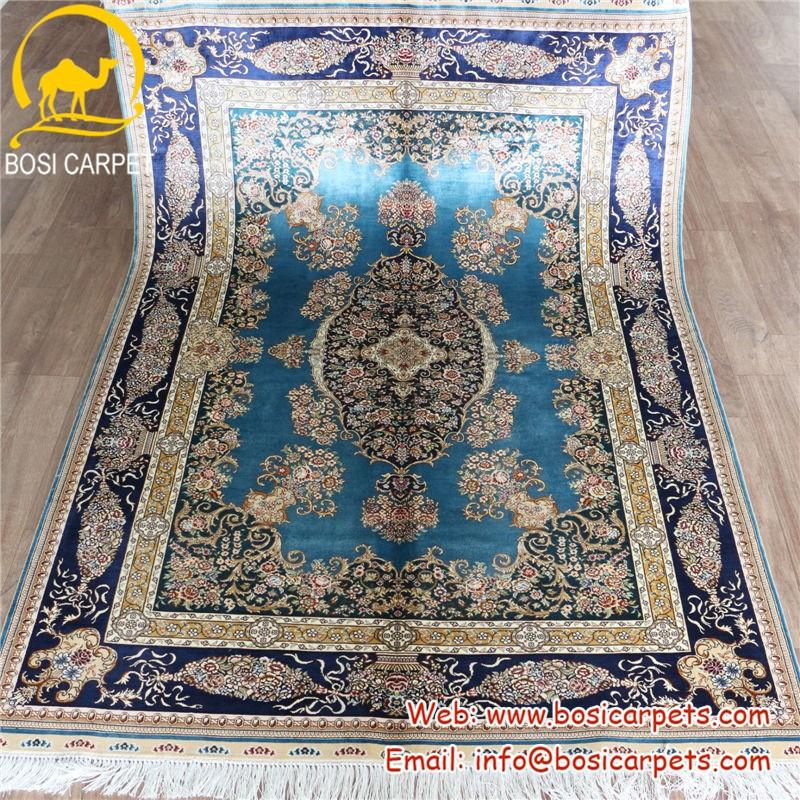 4x6ft bleu elegant decoration de la maison en bambou tapis de soie tapis de sol tapis de soie buy tapis en soie tapis en soie de bambou tapis de sol