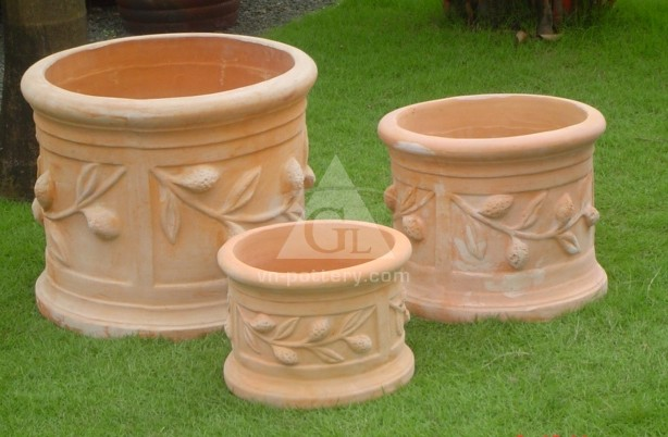 Clay Tall Flower Pots