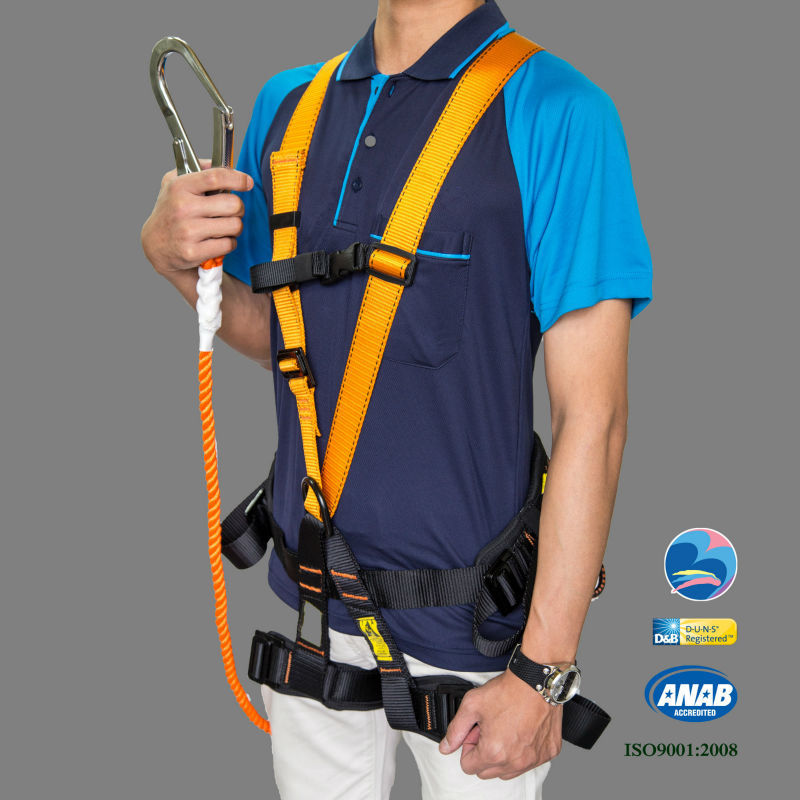 Working At Height Worker Safety Fall Arrest Full Body