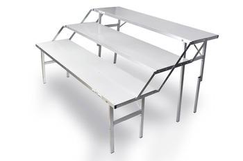trois etages table table pliante pour l exposition en acier ou en aluminium