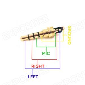 3,5 Mm Male Stekker 3polig Solderen Hoofdtelefoon Audio