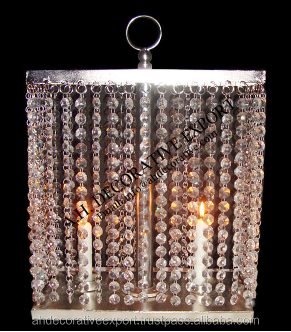 Chandelier Table Top With Tea Light Holder Crystal For Wedding
