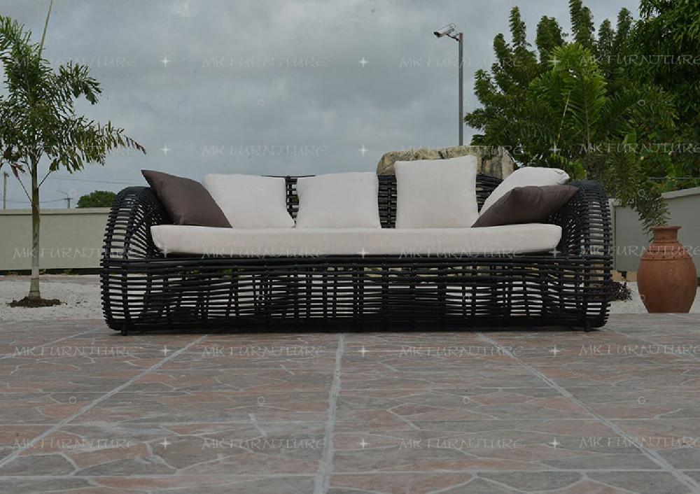 poly rotin synthetique bambou jardin exterieur canape ensemble meubles de patio en rotin pvc exterieur jardin